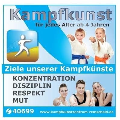 Selbstverteidigung Kampfsport Kinder Karate Remscheid Lennep